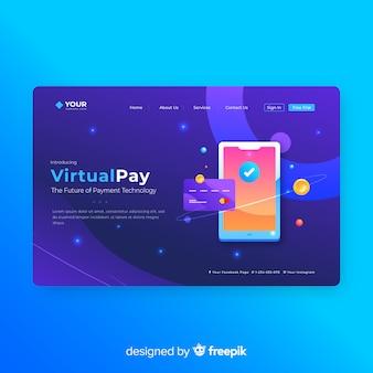 Virtuele pay landing-paginasjabloon