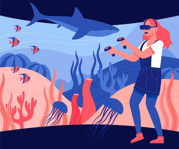 Virtuele realiteit concept illustratie