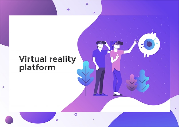 Virtuele realiteit illustratie pagina