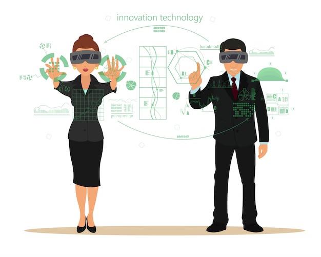 Virtuele realiteit. nieuwe technologie.