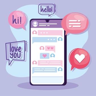 Virtuele relatie in smartphone