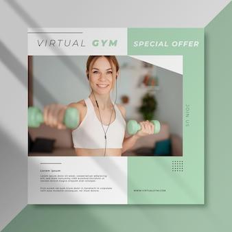 Virtuele sportschool facebook sportpost