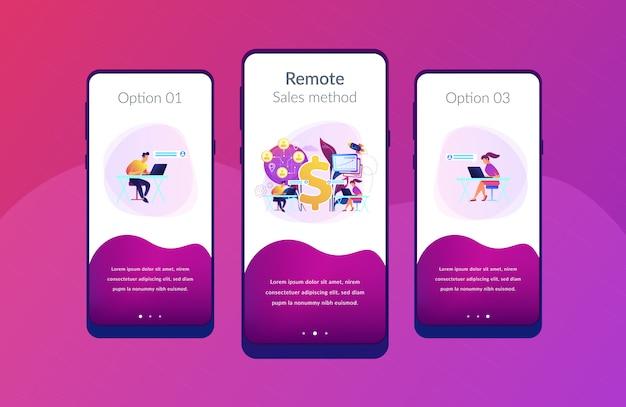 Virtuele verkoopsjabloon voor app-interface