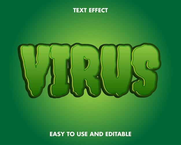 Virus corona teksteffect bewerkbaar en gemakkelijk te gebruiken