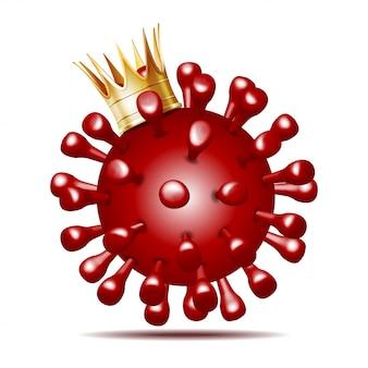 Virus dat een kroon draagt, 2019-ncov nieuw coronavirusconcept