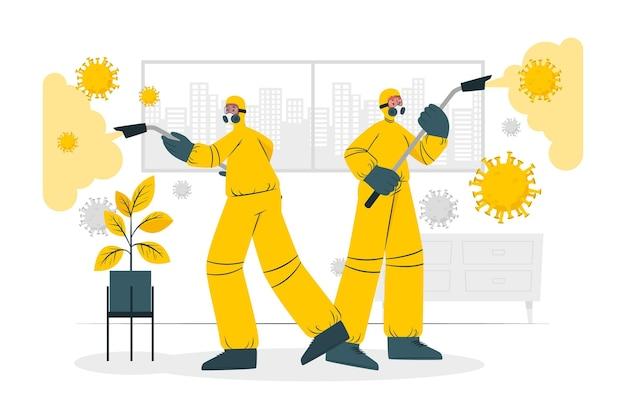 Virus desinfectie concept illustratie