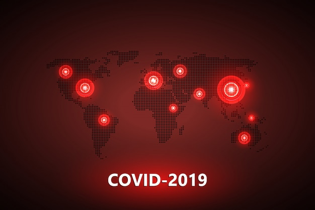 Virus en globe. gevaarlijk chinees ncov-coronavirus, pandemisch risicoalarm