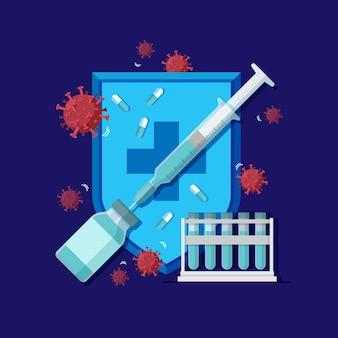 Virus genezen concept