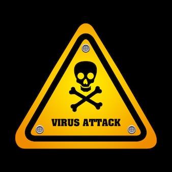 Virus grafisch ontwerp vectorillustratie