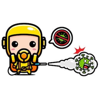 Virus gum karakterontwerp