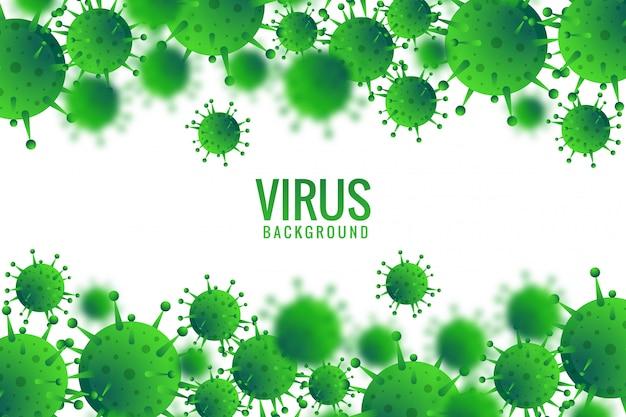 Virus of bacteriën infectie achtergrond