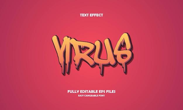 Virus tekst effect