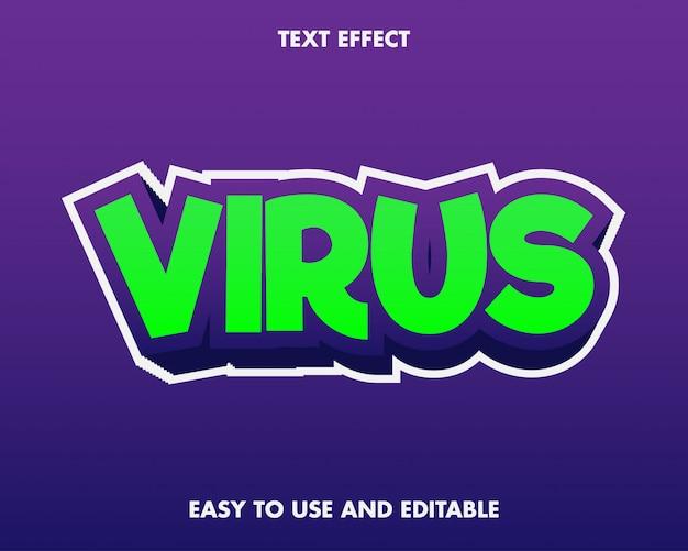 Virus teksteffect.
