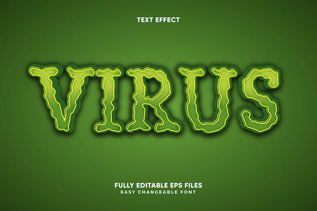 Virus teksteffect
