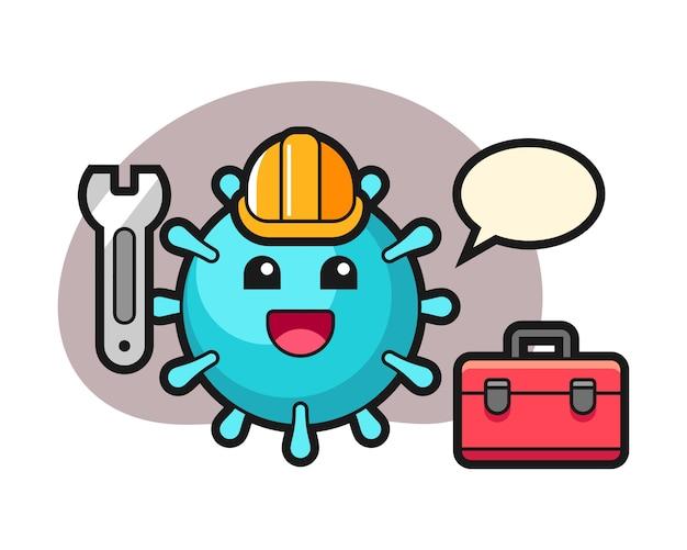Virusbeeldverhaal als monteur