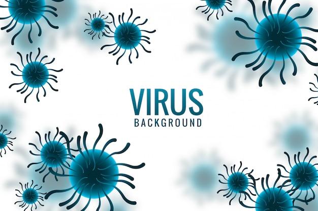 Virusinfectie of bacterie conceptontwerp