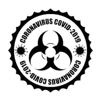 Virusinfectie of bacteriën van wuhan coronavirus covid-19 voorzichtigheid, melding van gevaaruitbraak
