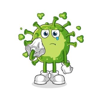 Viruskreet met een weefselkarakter dat op wit wordt geïsoleerd