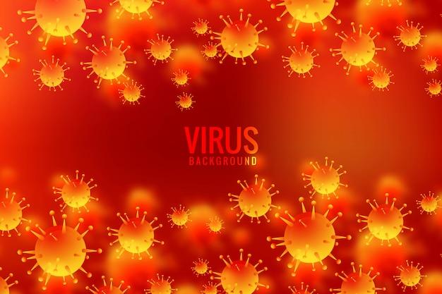 Virussen en bacteriën voor de achtergrond van allergiekiemen