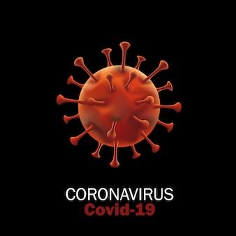 Virusstammodel van novel coronavirus 2019-ncov covid-19. virus pandemic protection concept