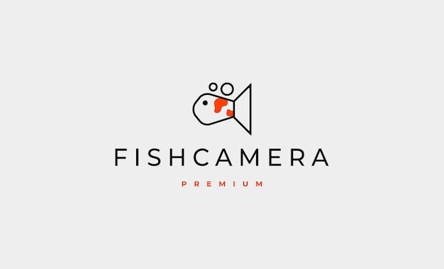 Vis camera logo ontwerp vectorillustratie