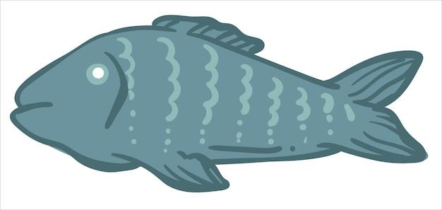 Vis dierlijk koken en bereiden van zeevleesvoedsel