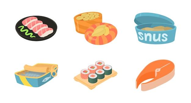 Vis eten pictogramserie