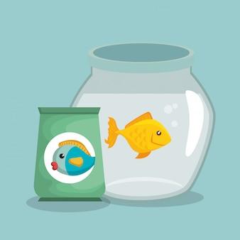 Vis huisdier in aquarium
