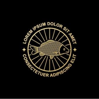 Vis logo ontwerp