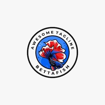 Vis logo ontwerpsjabloon vector