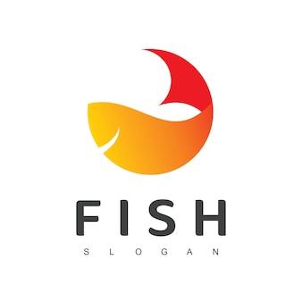 Vis logo ontwerpsjabloon