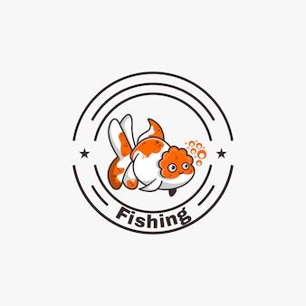 Vis mascotte logo ontwerp vectorillustratie