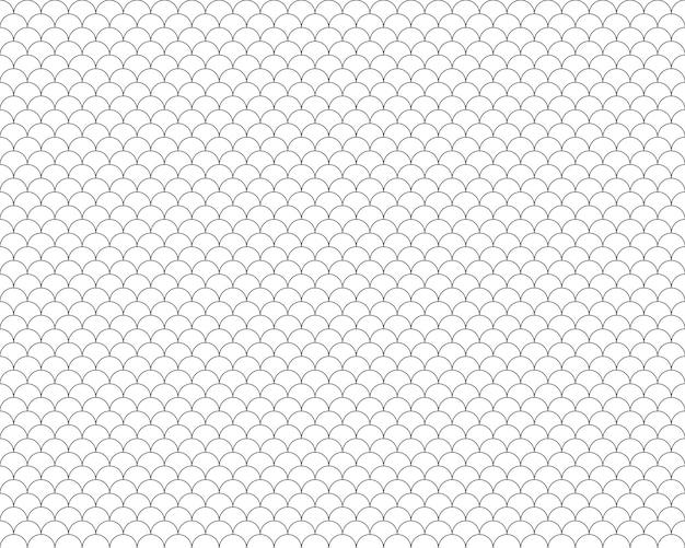 Vis schalen naadloze patroon achtergrond