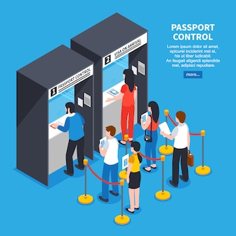 Visa center illustratie
