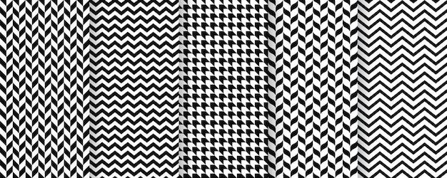 Visgraat naadloze patroon. twill print met visgraat, zigzag, chevron. tweed textuur