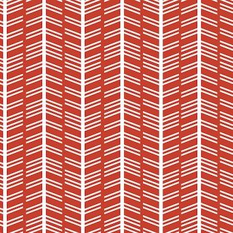 Visgraat scandinavisch patroon met rode en witte kleuren