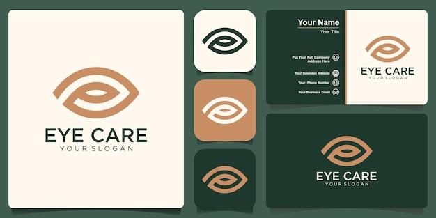 Visie gecombineerd met blad vector logo