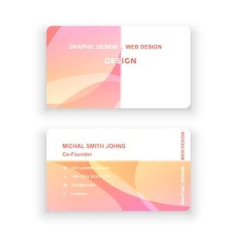 Visitekaartje eenvoudig ontwerplogo vectorillustratie moderne minimalistische kleurrijke sjabloon documentontwerpsjabloon voor kantoorbedrijf