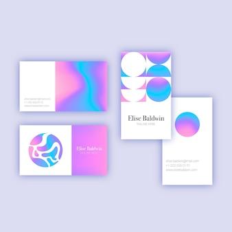Visitekaartje in pastel kleur
