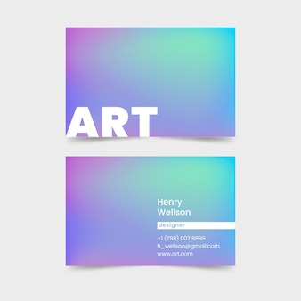 Visitekaartje in pastel verloopkleuren