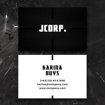 Visitekaartje in zwart-wit concept