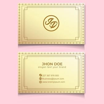 Visitekaartje luxe gouden elegant modern