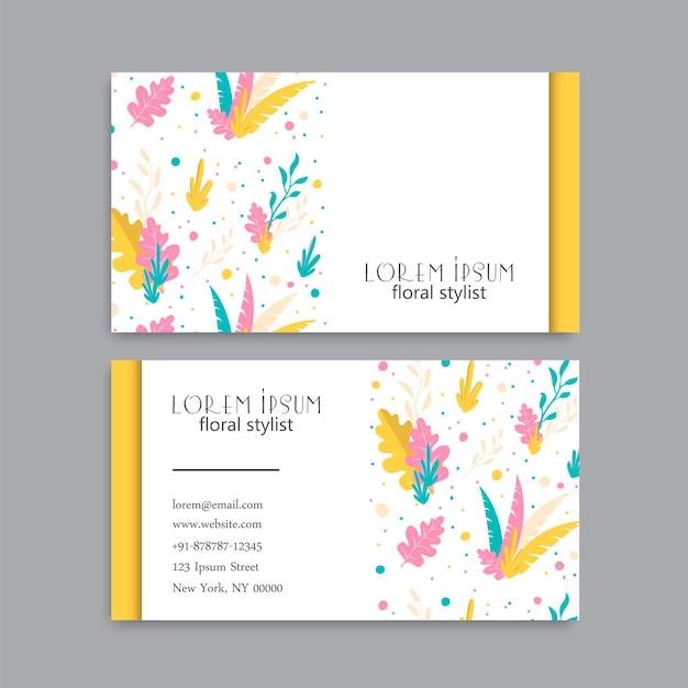 Visitekaartje met gele bloemen