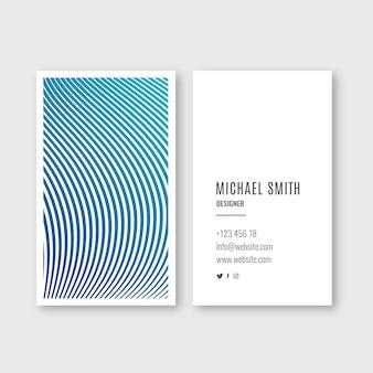 Visitekaartje met kleurovergang golven
