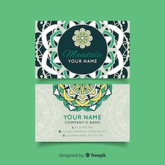 Visitekaartje met mandala concept