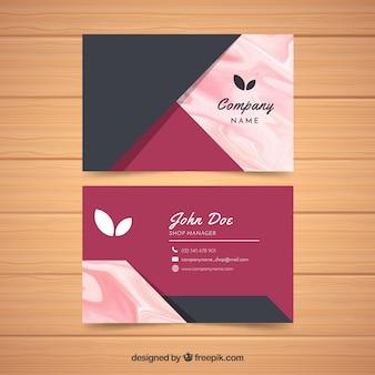 Visitekaartje met marmeren textuur