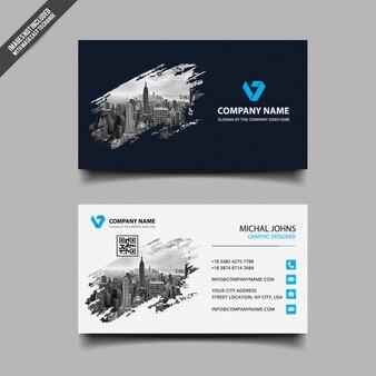 Visitekaartje met modern ontwerp