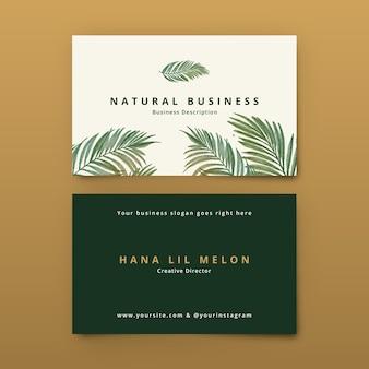 Visitekaartje met natuurlijke motieven