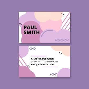 Visitekaartje met pastel gekleurde vlekken
