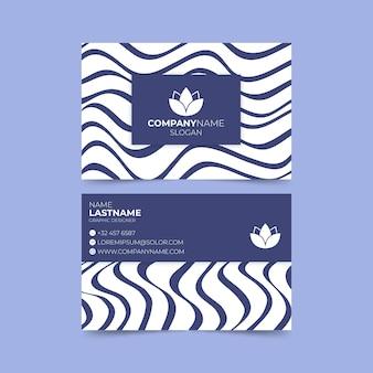 Visitekaartje met vervormde lijnen